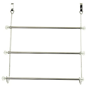 Home Accents 3 Tier Chrome Plated Steel Over-the-Door Towel Rack, , rollover
