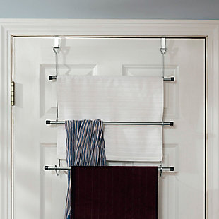 Home Accents Over-the-Door Chrome Towel Rack, , rollover