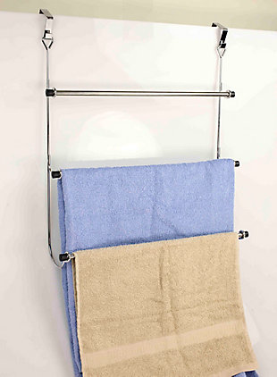 Home Accents Over-the-Door Chrome Towel Rack, , large