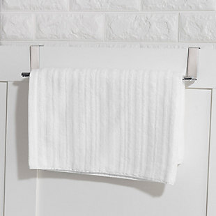 "Home Basics Home Basics 15"" Over-the-Cabinet Chrome Towel Rail, , rollover"