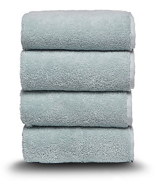 Arus 100% Turkish Terry Cotton 4-Pc Towel Set, Green, large