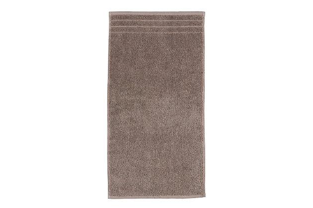 Arus 100% Turkish Terry Cotton 6-Pc Towel Set, Brown/Beige, large