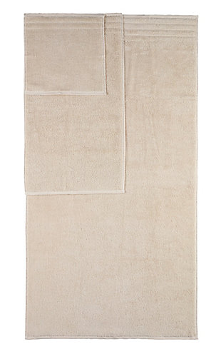 Arus 100% Turkish Terry Cotton 6-Pc Towel Set, Cream, rollover