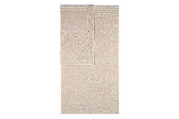 Arus 100% Turkish Terry Cotton 6-Pc Towel Set, Cream, large