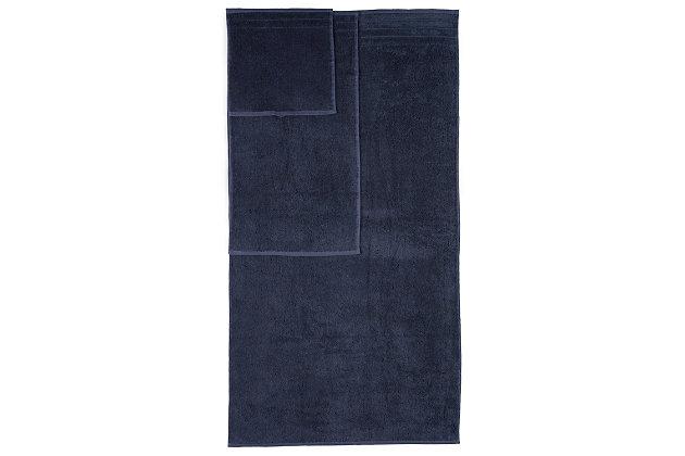 Arus 100% Turkish Terry Cotton 6-Pc Towel Set, Blue, large