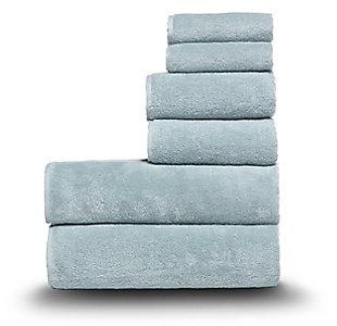 Arus 100% Turkish Terry Cotton 6-Pc Towel Set, Green, large
