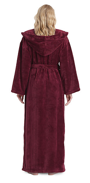 Arus Women's Hooded Classic Turkish Cotton Bathrobe (S), , large