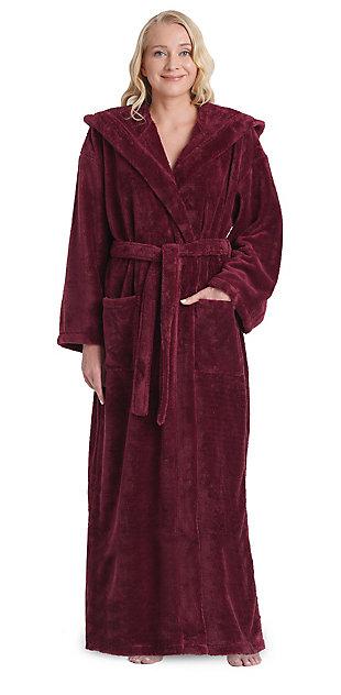 Arus Women's Hooded Classic Turkish Cotton Bathrobe (M), , rollover