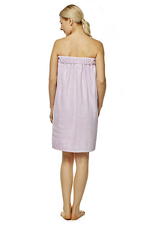 Arus Women's Organic Certified Terry Cotton Shower Bath Wrap (L/XL), Purple, large