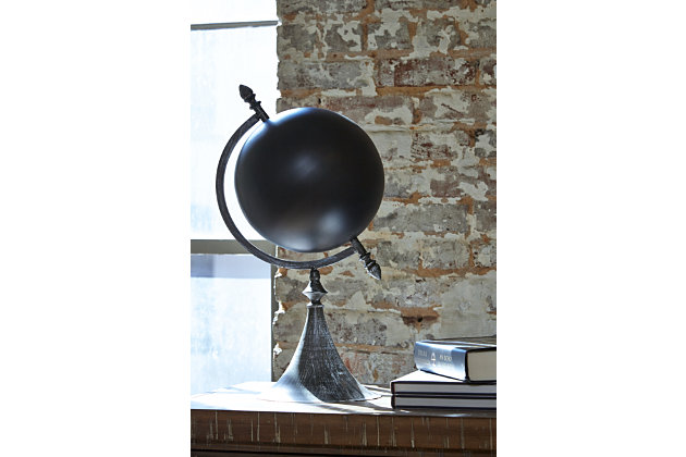 Home Accents Globe Sculpture by Ashley HomeStore, Black