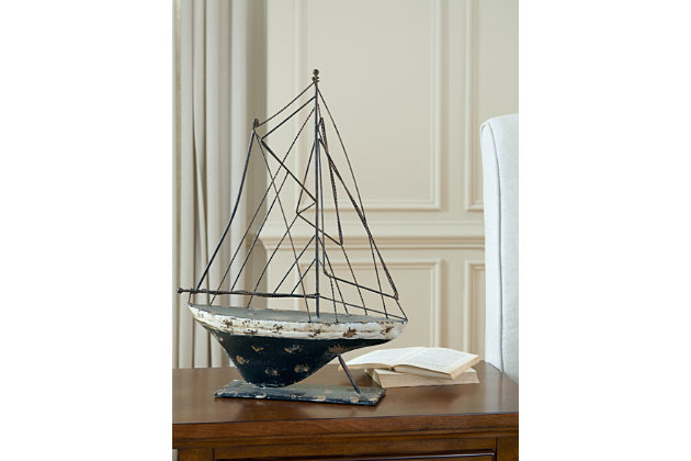 Home Accents Sail Boat Sculpture, , large