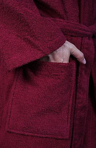 Arus Men's Hooded Classic Turkish Cotton Bathrobe (XXL), Red, large