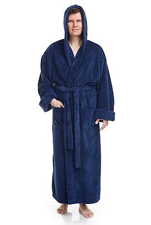 Arus Men's Full Length Hooded Turkish Bathrobe(XXL), , rollover