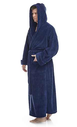 Arus Men's Full Length Hooded Turkish Bathrobe(XXL), , large