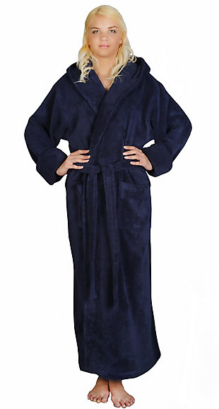 Arus Women's Full Length Soft Twist Cotton Hooded Turkish Bathrobe (S), , large