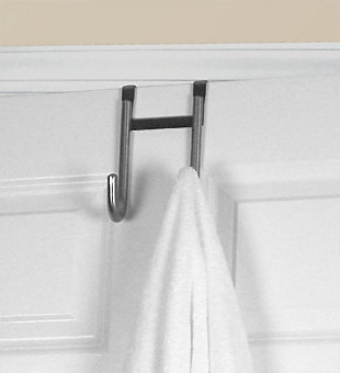 Contemporary Rust-Proof Over the Door Double Hook, , large