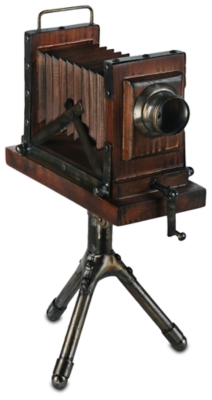 Ashley Home Accents Vintage Camera Sculpture, Brown