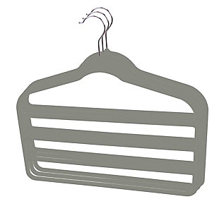 Contemporary Velvet Trouser Hangers (Set of 3), , large