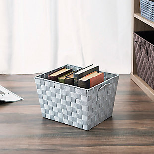 Contemporary Small Woven Bin, , rollover