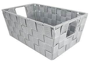 Contemporary Small Woven Bin, , large