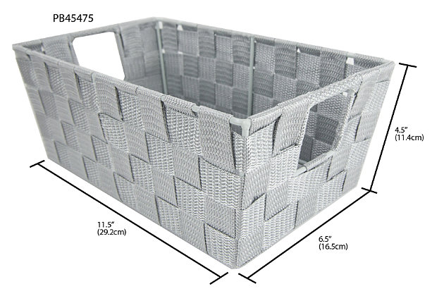 Contemporary Small Woven Bin, , large