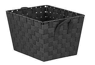 Contemporary Medium Woven Bin, , large
