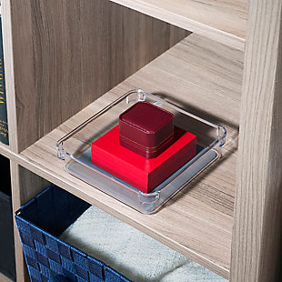 "Contemporary Plastic 6"" x 6"" Drawer Organizer, , rollover"