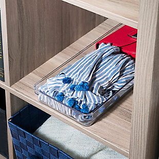 "Contemporary Plastic 6"" x 15"" Drawer Organizer, , rollover"