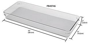 "Contemporary Plastic 6"" x 15"" Drawer Organizer, , large"