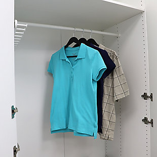 Contemporary Non-Slip Plastic Hangers, Black, rollover