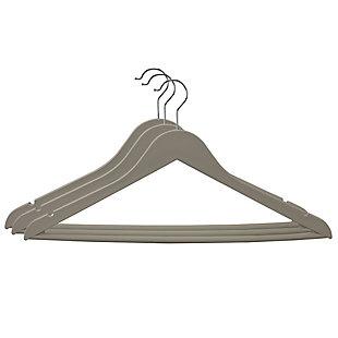 Contemporary Non-Slip Plastic Hangers, Cream, large