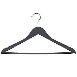 Contemporary Non-Slip Plastic Hangers, Charcoal, large