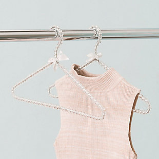 Contemporary Pearl Hangers (Set of 2), Clear, rollover