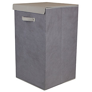 Contemporary Kensington Hamper with Velcro Lid, , large