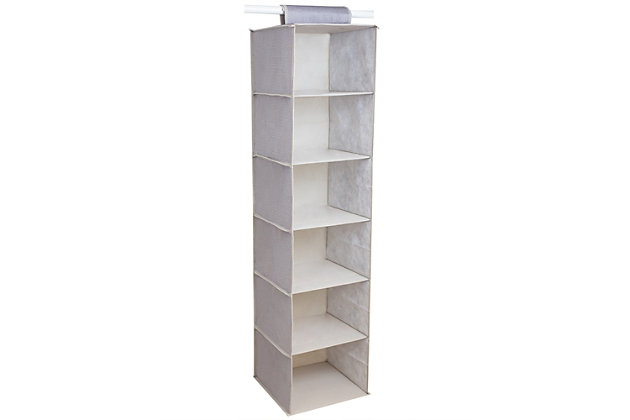 Contemporary Kensington Six Shelf Hanging Closet Organizer, , large