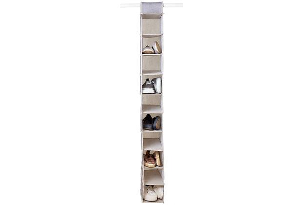 Contemporary Kensington Ten Shelf Hanging Closet Organizer, , large