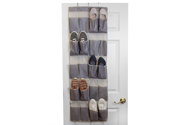 Contemporary Kensington Over the Door Shoe Organizer, , large