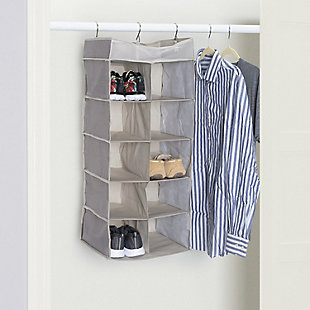 Contemporary Kensington Ten Shelf Hanging Closet Organizer with Mesh Top, , rollover