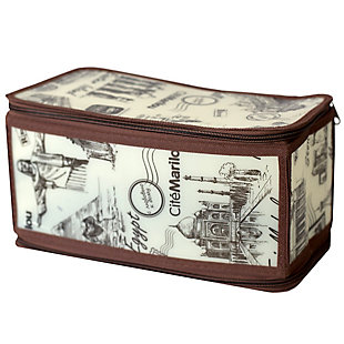 Contemporary Cities Small Zippered Storage Box, , large