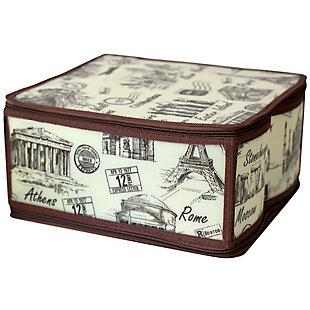 Contemporary Cities Medium Zippered Storage Box, , large