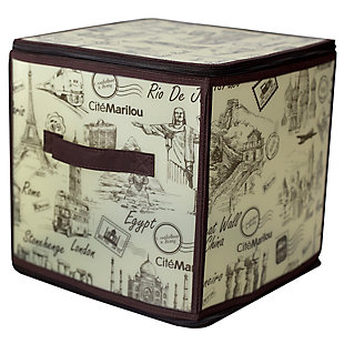 "Contemporary Cities 12"" x 12"" Zippered Storage Box, , large"