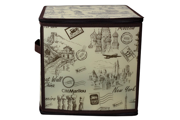 """Contemporary Cities 12"""" x 12"""" Zippered Storage Box, , large"""