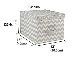 Contemporary Chevron Storage box with Lid, , large