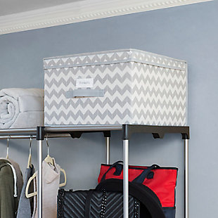 Contemporary Chevron Storage Box, , large