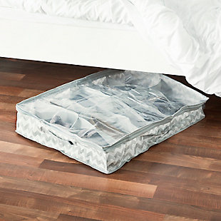 Contemporary Chevron Under the Bed Storage Organizer, , rollover