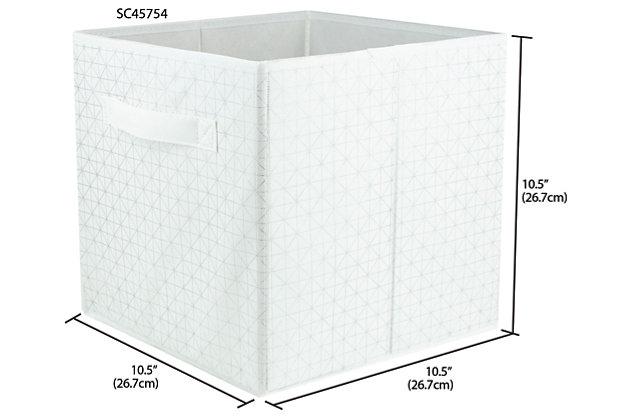 Contemporary Metallic Diamond Storage Cube, , large