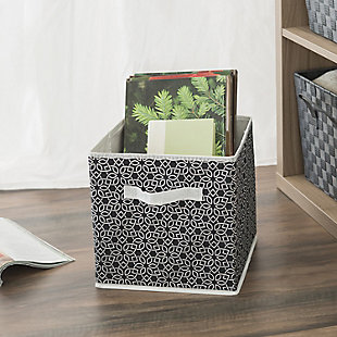 Contemporary Chevron Storage Cube, Black, rollover