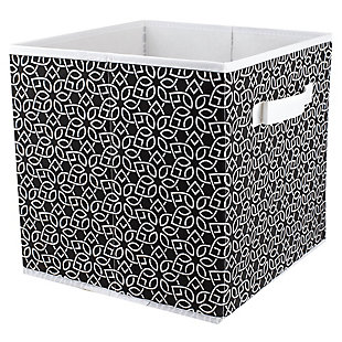 Contemporary Chevron Storage Cube, Black, large