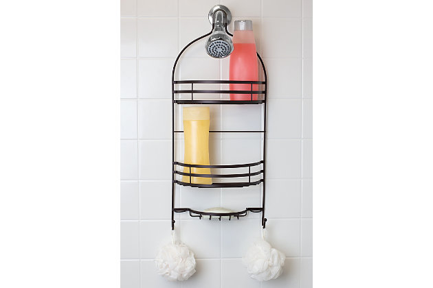 Contemporary Two Tier Shower Caddy, , large