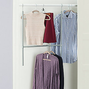 Contemporary Two Tier Hanging Closet Organizer, , rollover